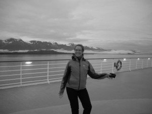 on board a ship outside of Skagway, Alaska