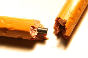 pencil broken in the middle
