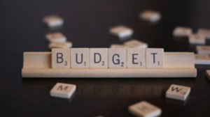 Scrabble word BUDGET is a key for indie book publishing